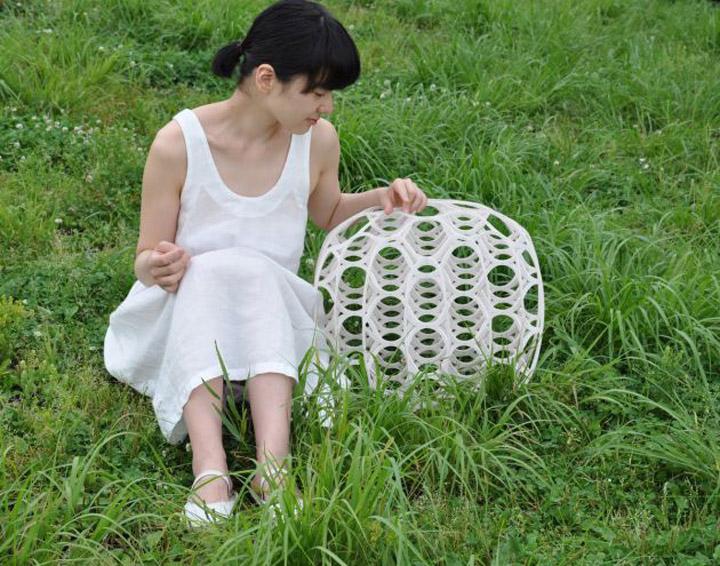 Сногшибательный плетенный табурет Hechima 5 от Ryuji Nakamura