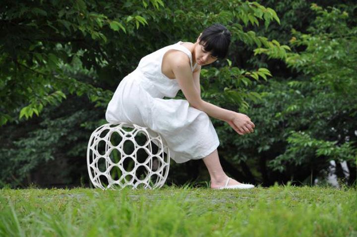 Креативный плетенный табурет Hechima 5 от Ryuji Nakamura