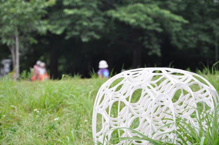 Яркий плетенный табурет Hechima 5 от Ryuji Nakamura