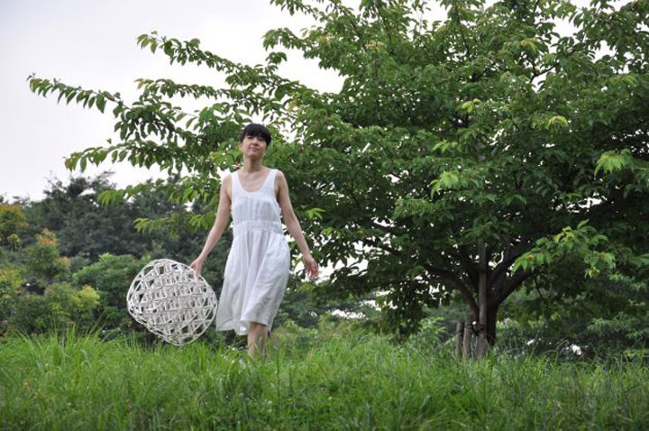Дивный плетенный табурет Hechima 5 от Ryuji Nakamura