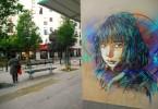 Из коллекции трафаретных граффити французского уличного художника С215