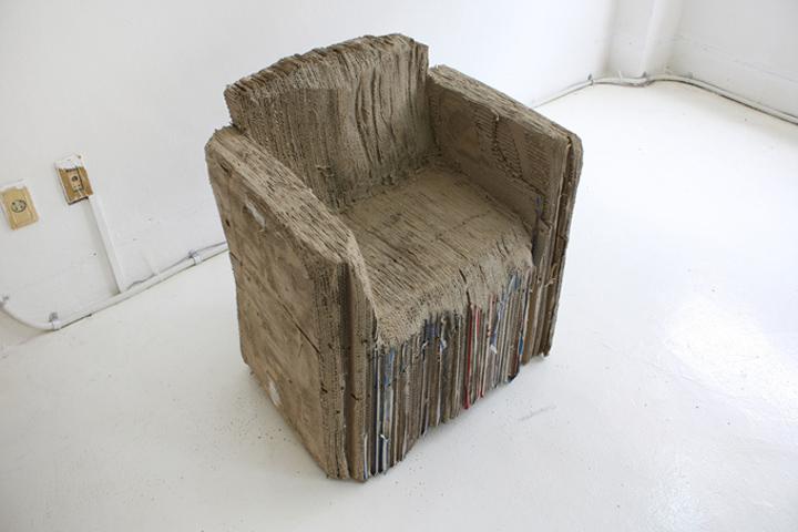 Картонное кресло Reborn Cardboard от Monocomplex