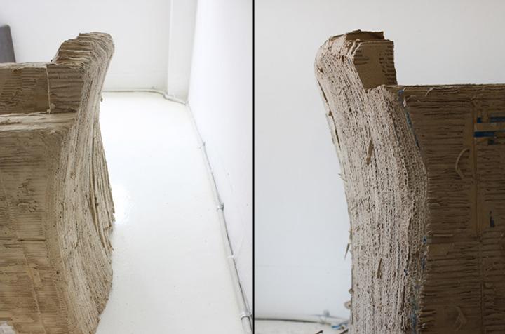 Материал кресла Reborn Cardboard от Monocomplex