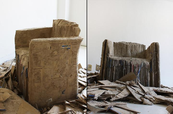 Кресло из картона Reborn Cardboard от Monocomplex