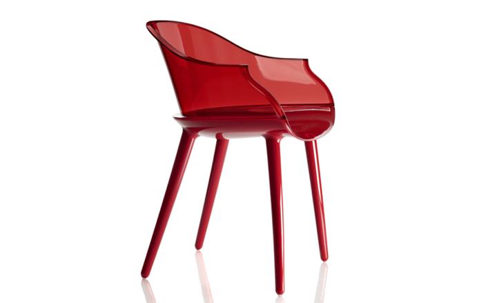 Красный стул Cyborg от Марсель Вандерс