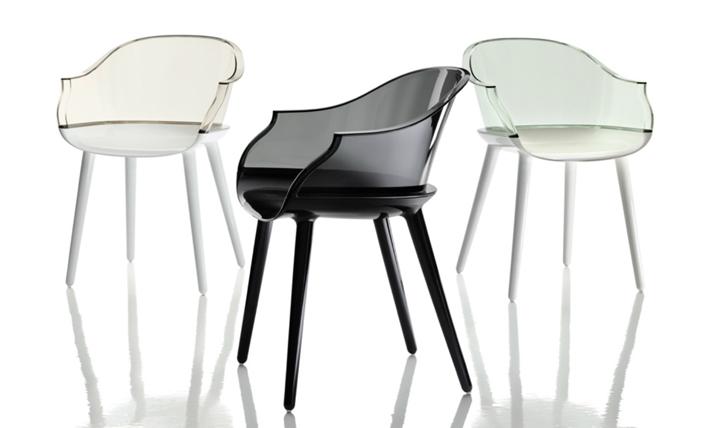 Красивые прозрачные стулья Cyborg от Марсель Вандерс