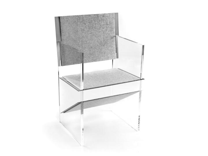 Дизайнерский стул из стекла