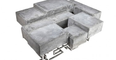 Concractions – низкий стол в виде бетонной плиты