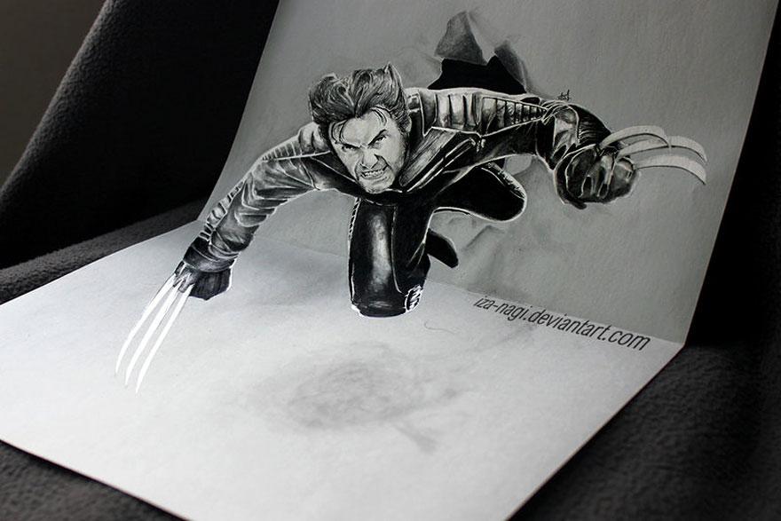 Рисунок человека-россомахи