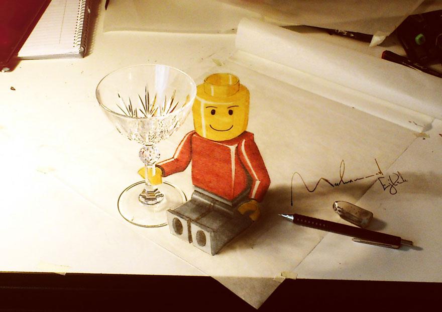 Рисунок фигурки из LEGO