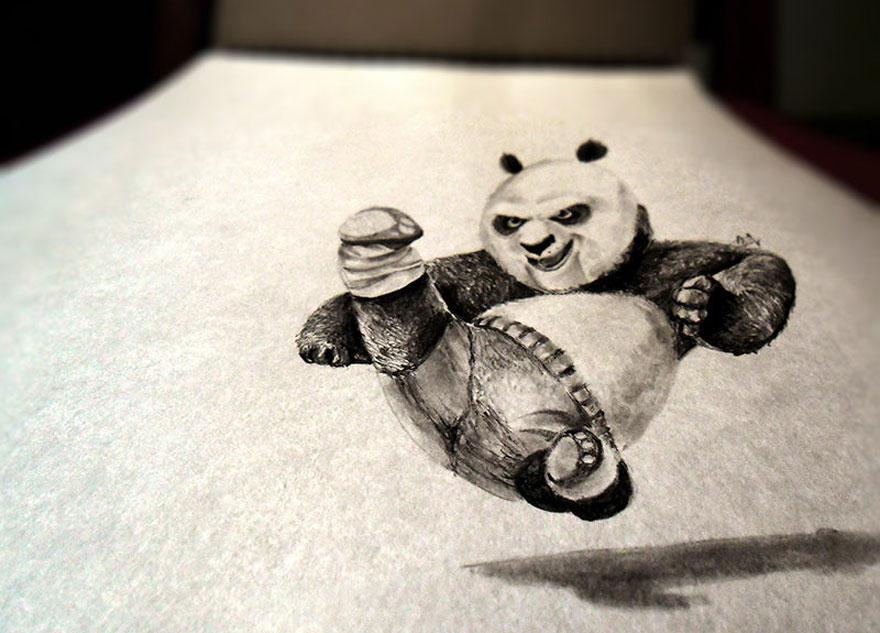 Рисунок панды