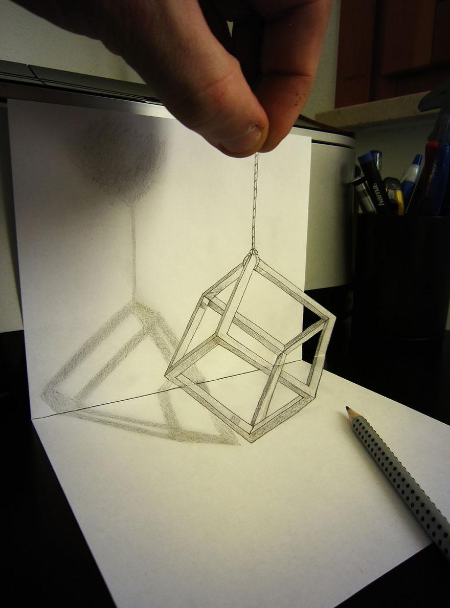 Рисунок геометрического квадрата