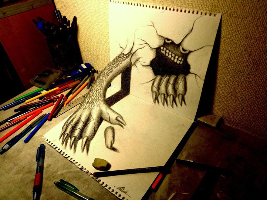 Рисунок страшного персонажа