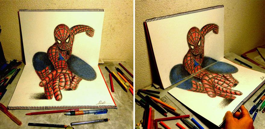 Рисунок Спайдермена