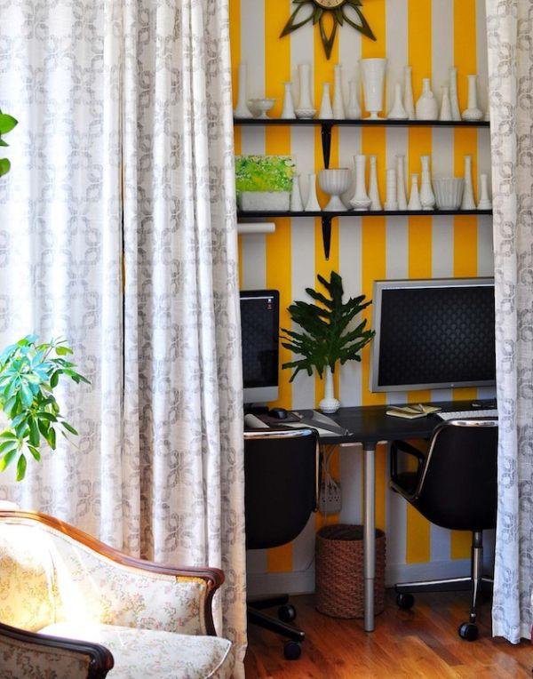 Домашний офис за шторами