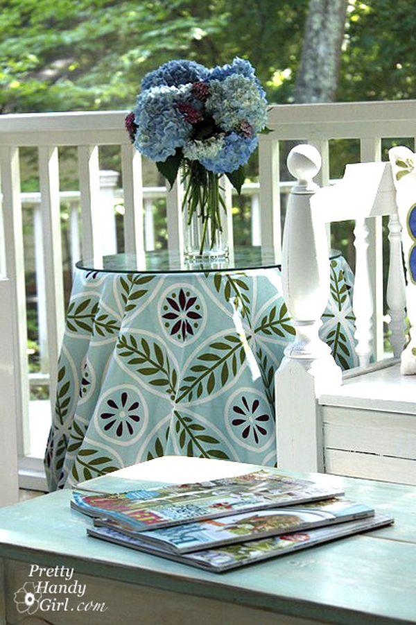 Скатерть на стол из шторы