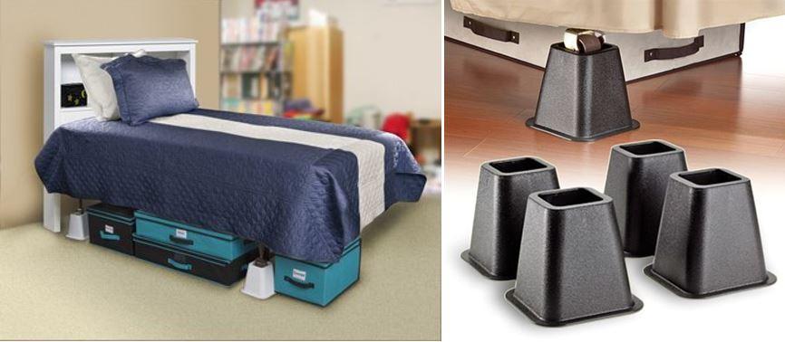 Стойки, увеличивающие пространство под кроватью