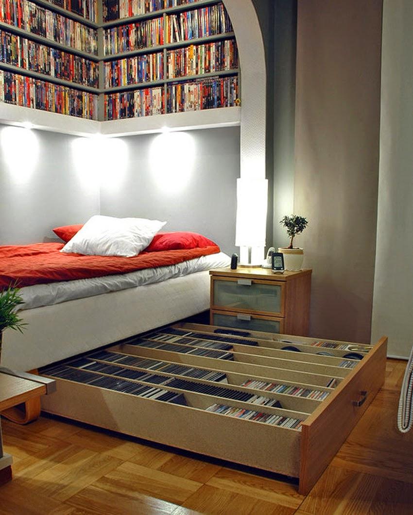 Кровать от IKEA с функцией хранения дисков медиа