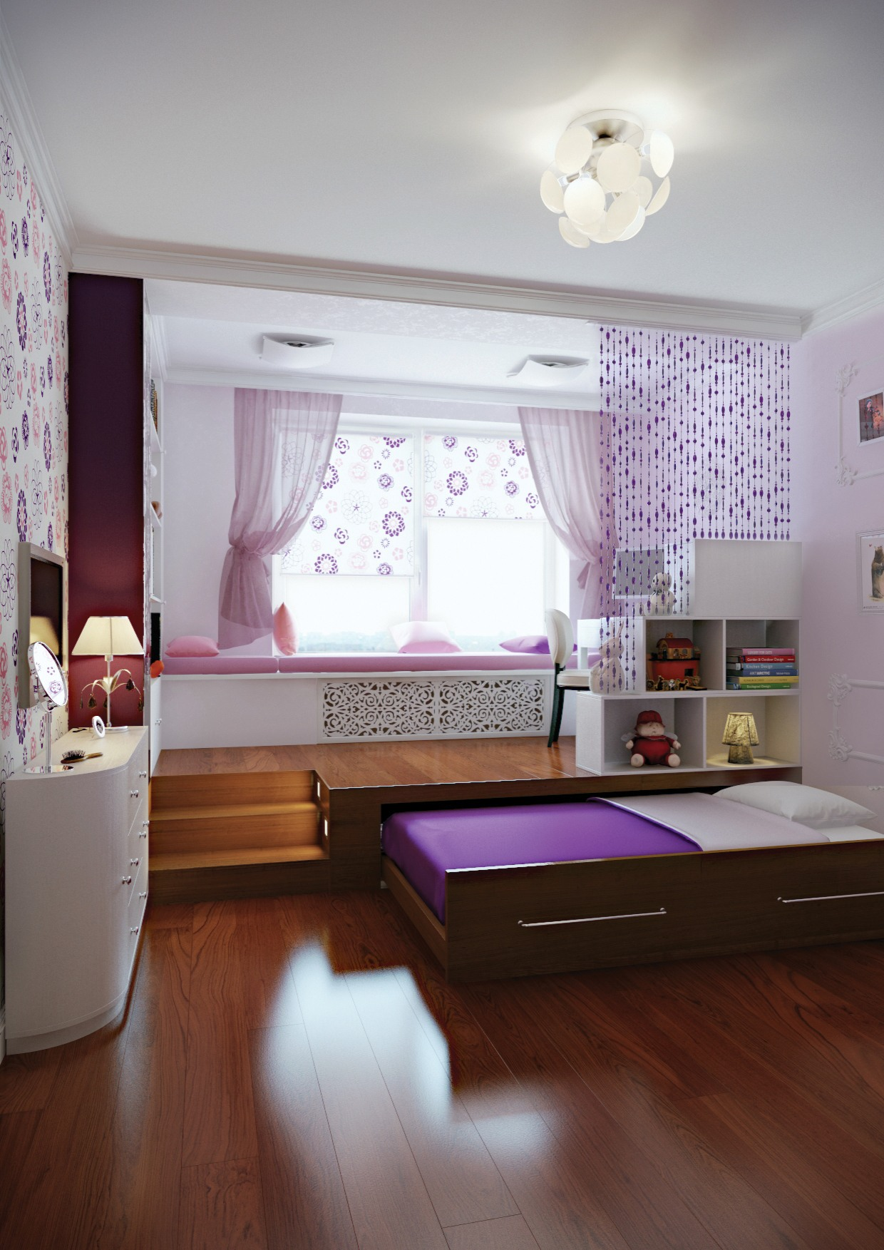 Кровать с основанием в виде шкафа