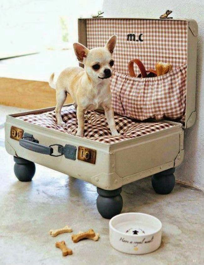 Чемодан-кровать для собаки