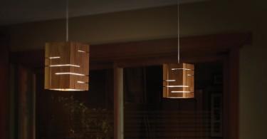 Притягательная эстетика естественной фактуры в светильнике Claudo от Cerno
