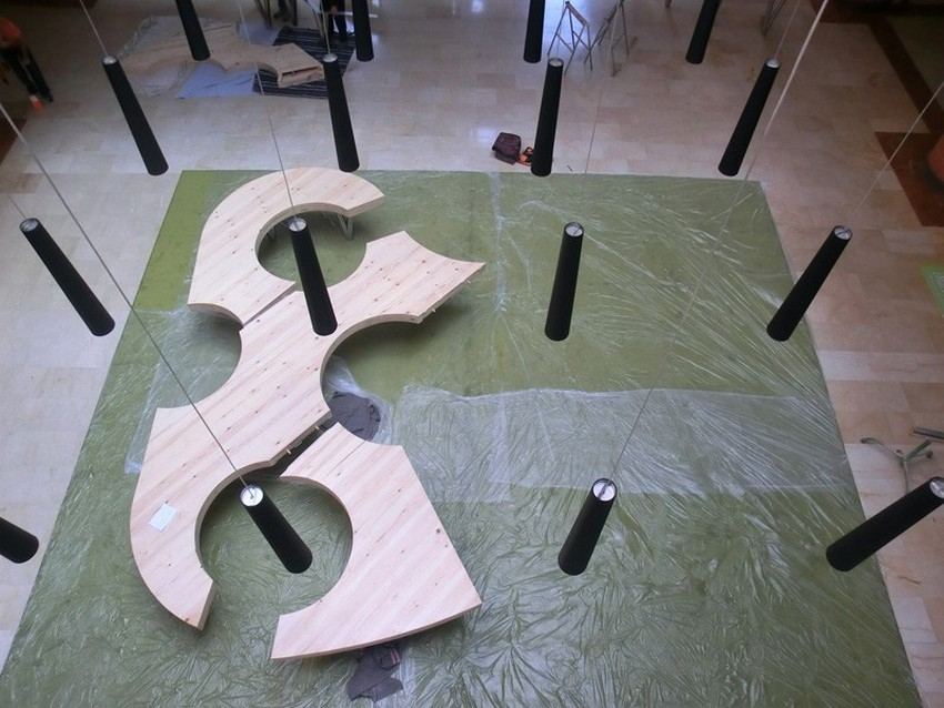 Закрепления частей складного стола