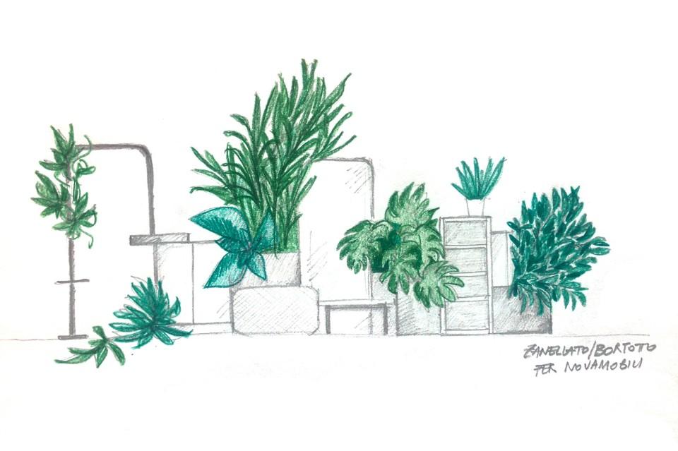Даниэл Бортотто и Джоржиа Занеллато: набросок для инсталляции Exquisite Jungle