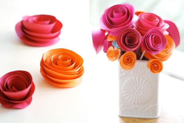Цветы из бумаги для принтера