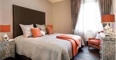 Красивое оформление интерьера спальни