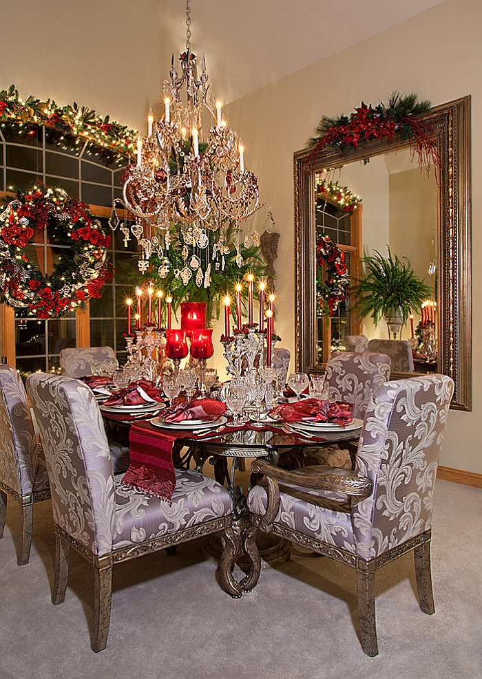 Christmas decorations for dining