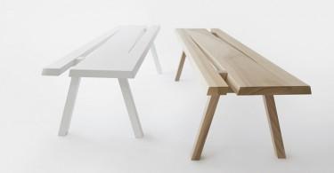 Деревянные скамейки от Mike & Maaike for Council
