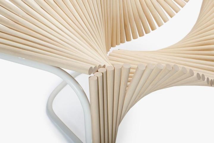 Деревянный материал кресла