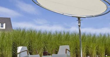 Уникальный фотоэлектрический зонт для отдыха