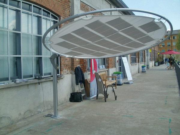 Круглый зонт с тканевой основой