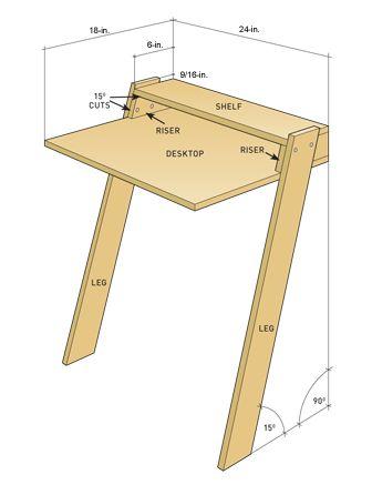 Схема настенного стола