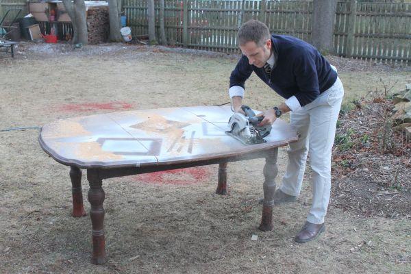 Процесс разделения стола