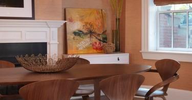 Винтажные стулья в столовой