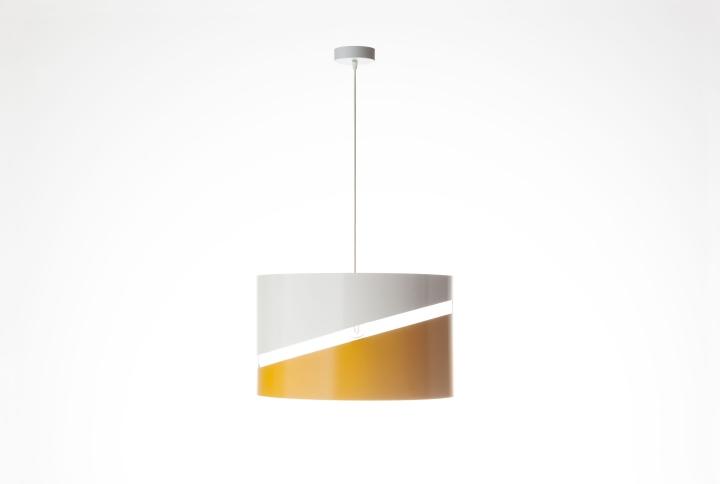 Двухцветный подвесной светильник эллиптической формы