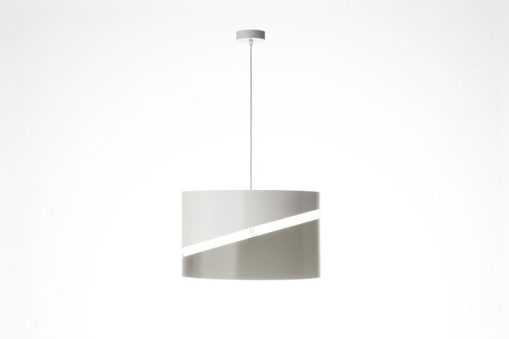 Оригинальный дизайн подвесного светильника эллиптической формы нейтрального цвета