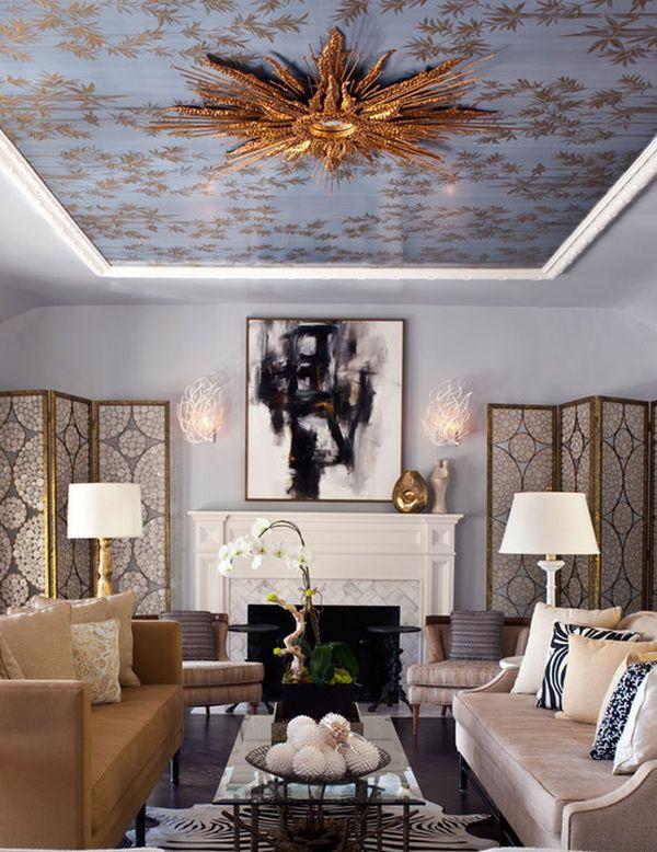 Симметрия в интерьере гостиной