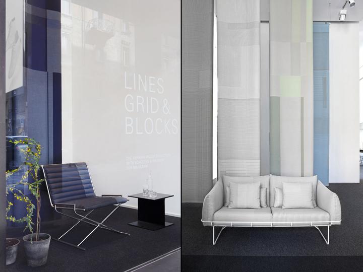 Кресло и диван в павильоне на выставке
