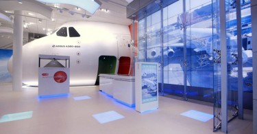 Цифровые инсталляции Emirates Aviation Experience
