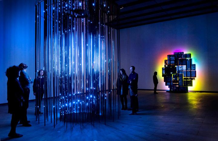 Интерьер световой выставки