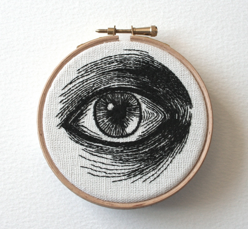 Глаз человека из ниток