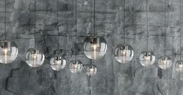 Противоборство тени и света в структуре светильника Flask от Tom Dixon Studio
