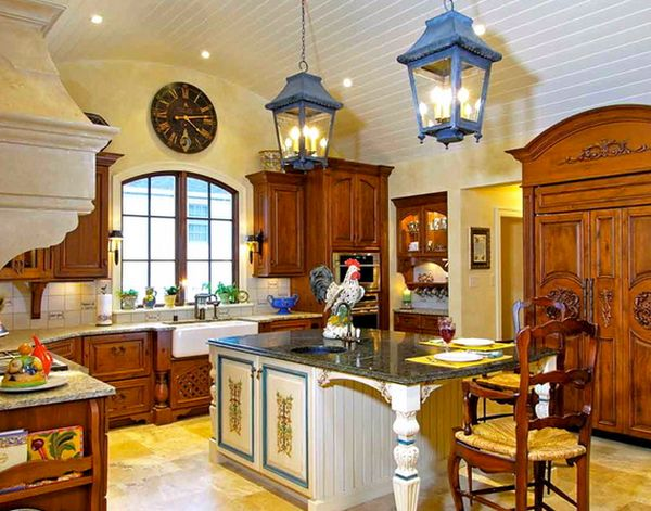 Изысканные интерьер кухни во французском деревенском стиле