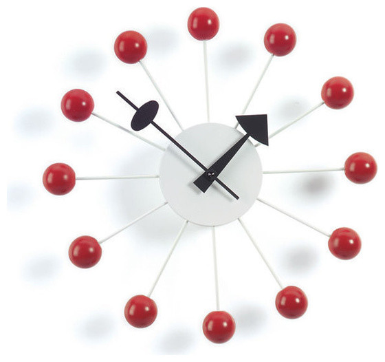 Красивые часы в красно-черном облике