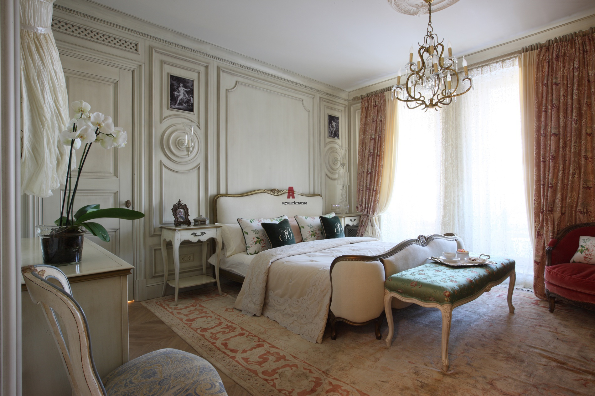 Чудесное оформление помещения в французском стиле