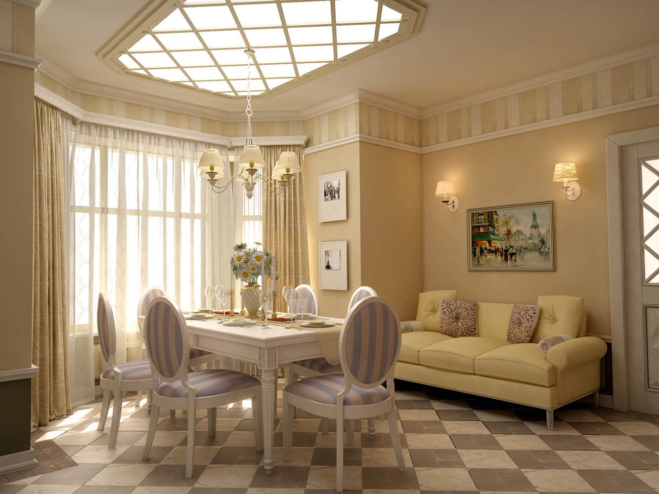 Уникальное оформление помещения в французском стиле