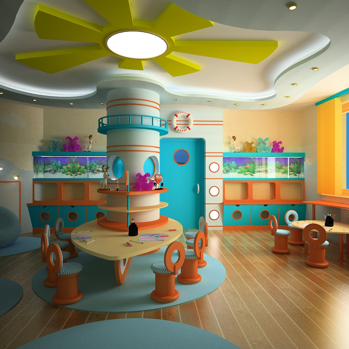 Play furniture for kindergarten - photos and ideas how to decorate the garden
